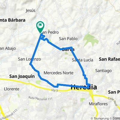 Calle Naranjo, Barva to Calle Talleres, Barva