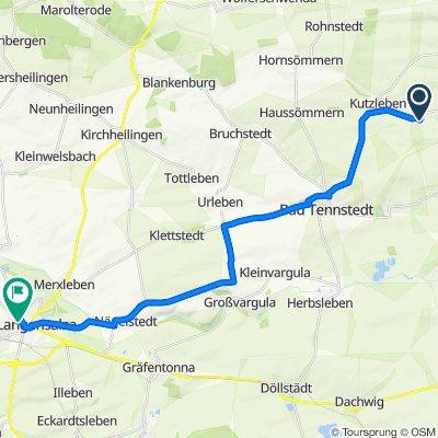 Dorfstraße 72, Kutzleben nach Am Wilden Graben 30, Bad Langensalza