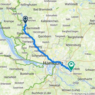 Route nach Klosterhagen 8A, Hamburg