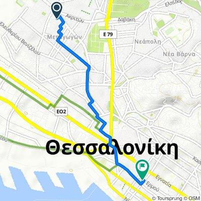 Μανούκα 2, Αμπελόκηποι to Ερμού 21, Θεσσαλονίκη