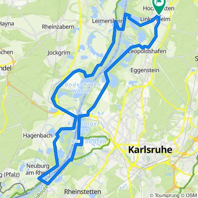 Linkenheim - KA - Pamina-Rheinauen-Rundtour 4
