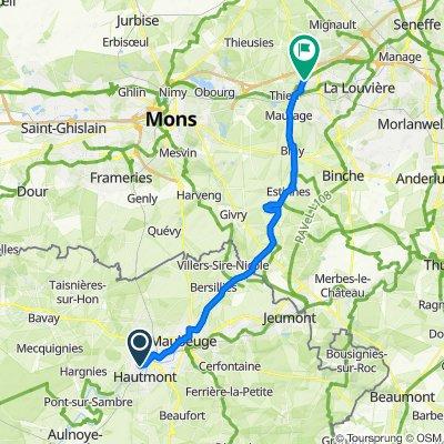 Itinéraire à partir de 1–13 Rue de la République de Grattières, Hautmont