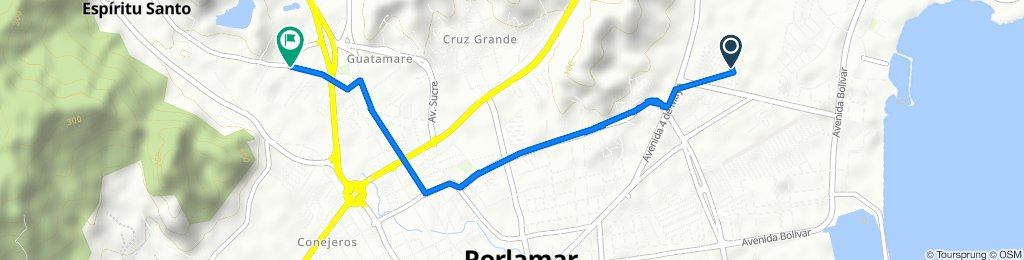 De Calle EO-4, Porlamar a Avenida Concepción Mariño, Porlamar