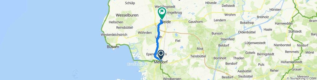Weiderbaum 11, Meldorf nach WKK Heide, Freudental 27A, Heide