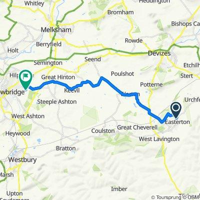 7 Strawberry Fields, Devizes to 36 Hutton Close, Trowbridge