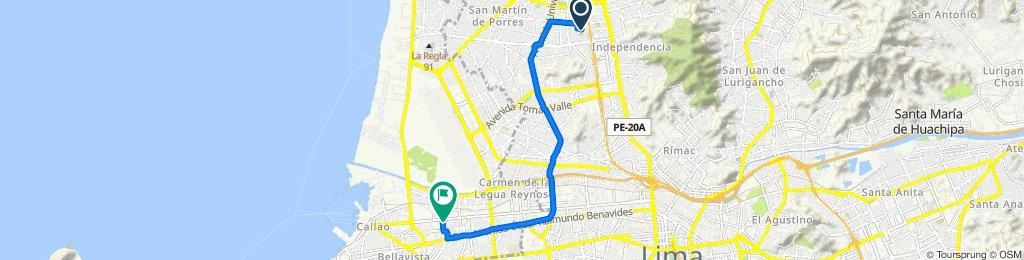 De Las Granadas 4075, Los Olivos a Avenida Argentina 2830, Callao
