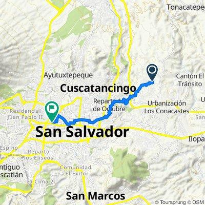 De Avenida Prusia 87, Soyapango a San Salvador