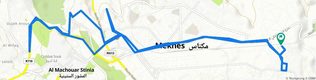 De Unnamed Road, Meknès à Unnamed Road, Meknès
