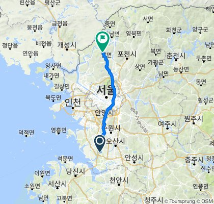 Hyangnam-eup 1142-2, Hwaseong-si to Jeokseong-myeon 48-8, Paju-si