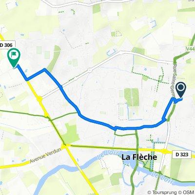 6 Allée Le Léard, La Flèche to 1 Rue Nicolas Appert, La Flèche