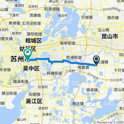 Route to Panxu Road No.798, Suzhou