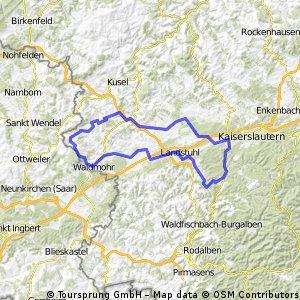 Krickenbach - Waldziegelhütte - Ramstein - Krickenbach