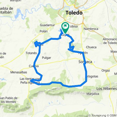 De Calle Saladero 16, Layos a Carretera Toledo Piedrabuena 1A, Layos