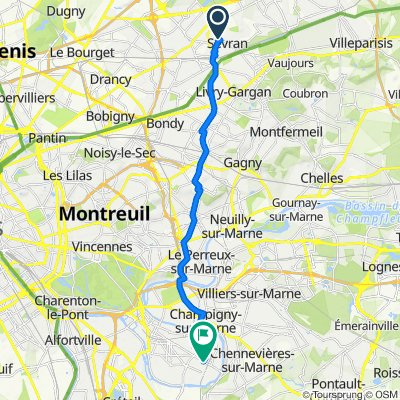 De 27 Avenue du Travail, Sevran à 61 Place Francis Garnier, Saint-Maur-des-Fossés