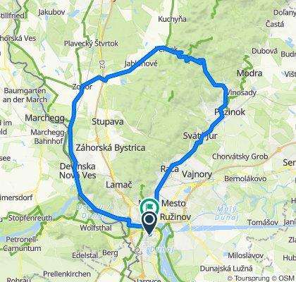 Bratislava,Zohor,Svätý Jur,Rača,Bratislava