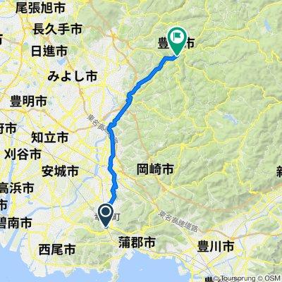 5-1, Ashinoya Mochida, Kota-Cho, Nukata-Gun to 20-22, Asukecho Naruse, Toyota-Shi