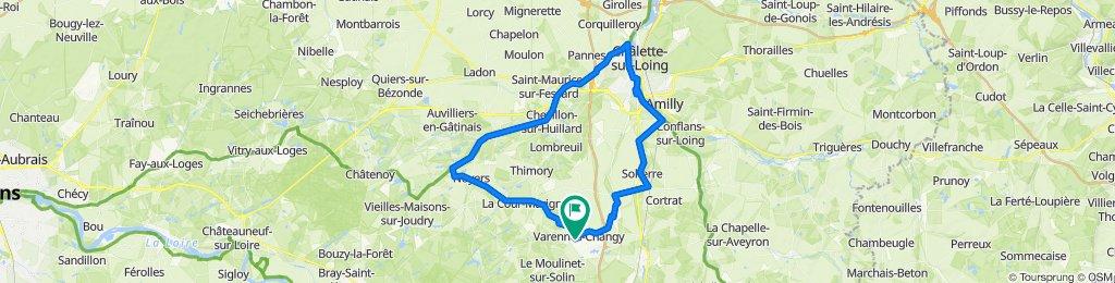 De 25 Rue du Moulinet, Varennes-Changy à 27bis Rue du Moulinet, Varennes-Changy