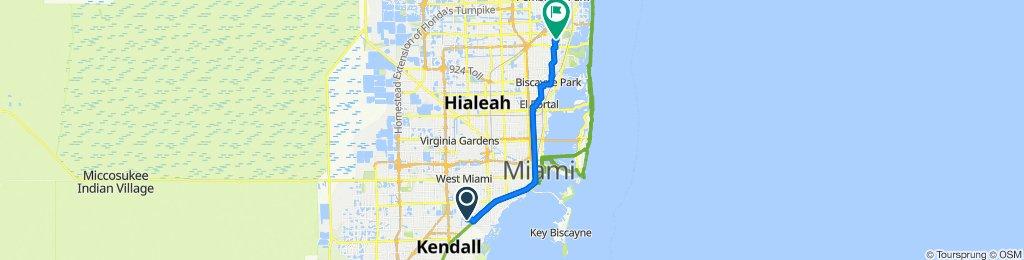 5918 SW 62nd Terr, South Miami to 1601 NE 174th St, North Miami Beach