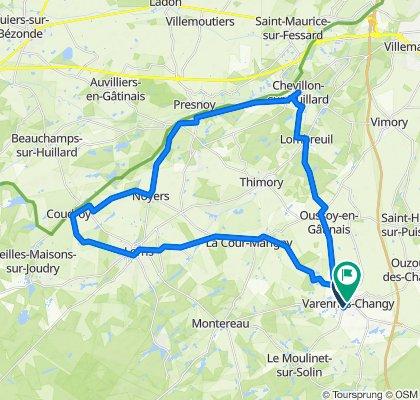 De 27bis Rue du Moulinet, Varennes-Changy à 7 Place Duchesse de Dalmatie, Varennes-Changy