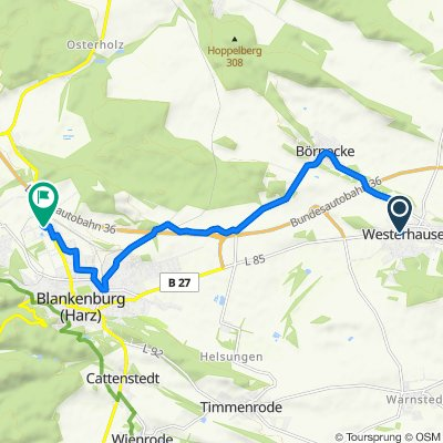Hinter dem Amt 29, Thale nach Lerchenbreite 48, Blankenburg (Harz)