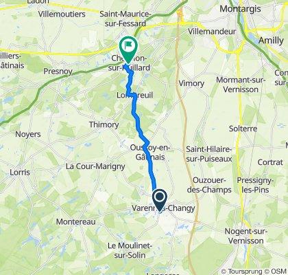 De 27 Rue du Moulinet, Varennes-Changy à 48 Grande Rue, Chevillon-sur-Huillard