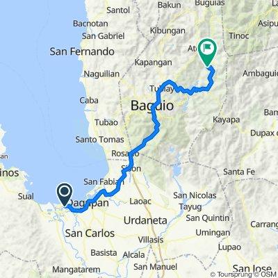 Baybay Polong 123, Lingayen to Bokod - Kabayan - Buguias - Abatan Road