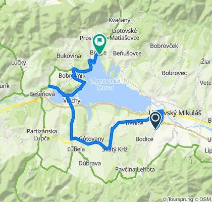 Trasa z Demänovská cesta, Demänová