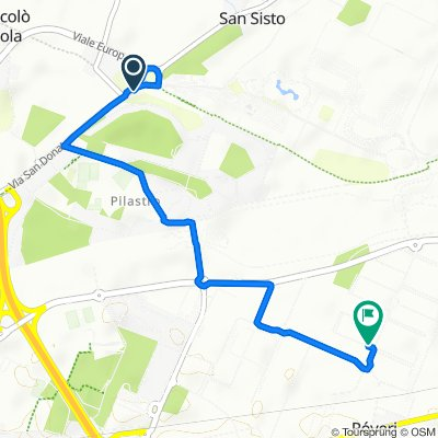 Da Via San Donato, Bologna a Via dell'Idraulico 1, Bologna