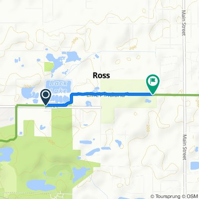 Route from 2036–2052 E Main St, Griffith