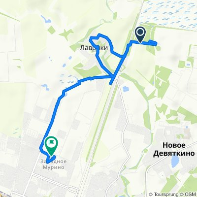От Лаврики до Петровский бульвар 5, Мурино