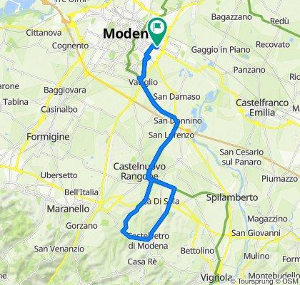Modena, Bolognina, Castelvetro e ritorno