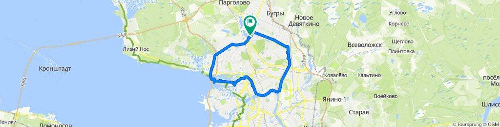 От улица Сикейроса 6 корпус 1, Санкт-Петербург до Проспект Энгельса корп. 1, Санкт-Петербург