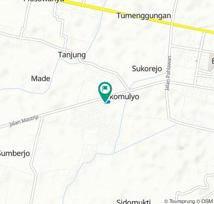 Jalan Made Karyo I 1, Kecamatan Lamongan to Jalan Made Karyo I 1, Kecamatan Lamongan