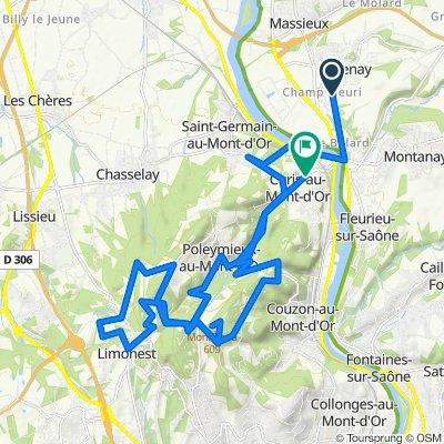 De 28 Rue du Cèdre, Genay à 27 Route des Monts d'Or, Albigny-sur-Saône