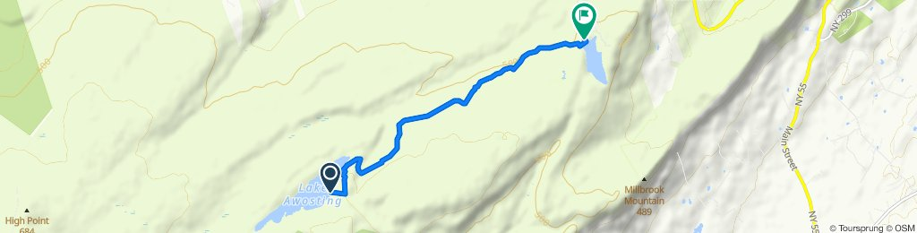 Hamilton Pt Trail, Kerhonkson to Hamilton Point Trail, Gardiner