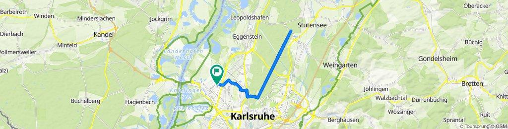 Ferdinand-Keller-Straße 25, Karlsruhe nach Ferdinand-Keller-Straße 25, Karlsruhe