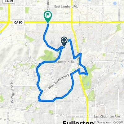 Clarion Drive 851, Fullerton to West Parkwood Avenue 101, La Habra