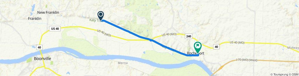 Katy Trail, New Franklin to 705 Third St, Rocheport