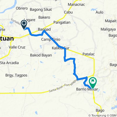 Route to Bangad-Fort Magsaysay Road, Santa Rosa