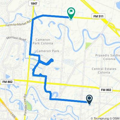 4340 Jaime J Zapata Ave, Brownsville to 5587 Garden Breeze Ct, Brownsville
