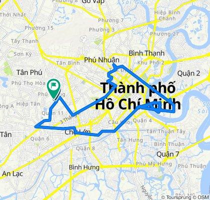 Route from Lô V Lạc Long Quân 5