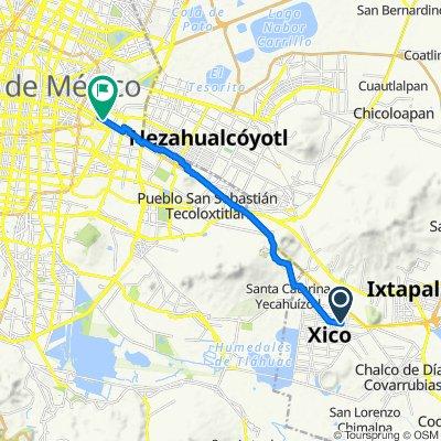 De Calle Norte 13 805, Valle de Chalco Solidaridad a Calzada Ignacio Zaragoza, Ciudad de México