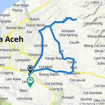 Jalan Soekarno - Hatta, Kecamatan Ingin Jaya to Unnamed Road, Kecamatan Ingin Jaya