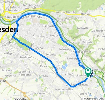 Kyawstraße 35B, Dresden nach Kurhausstraße 27, Dresden
