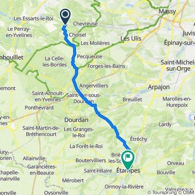 6 Grande Rue, Dampierre-en-Yvelines to 15 Rue des Marionnettes, Étampes