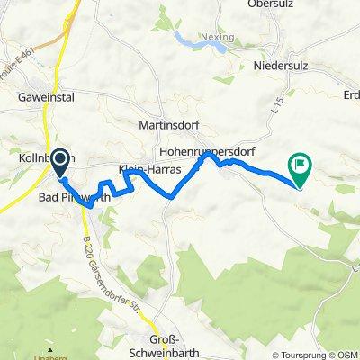 Einfache Fahrt in Bad Pirawarth