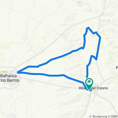 De Carretera Villafranca, 26, Ribera del Fresno a Calle de Ernesto Che Guevara, 26, Ribera del Fresno