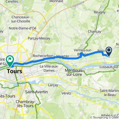 De 299 Rue de Mauland, Noizay à 11bis Rue des Tanneurs, Tours