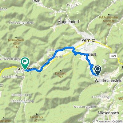 Route nach Hoyosgasse, Gutenstein