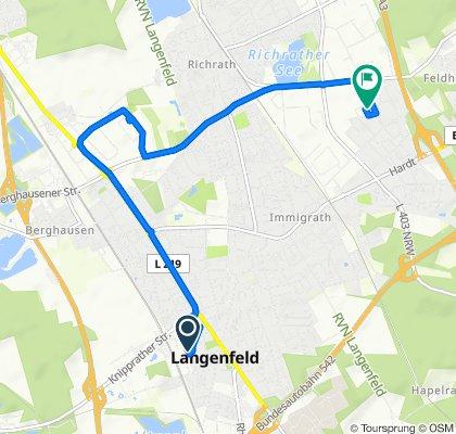 Poststraße 33, Langenfeld (Rheinland) nach Ritterstraße 7, Langenfeld (Rheinland)